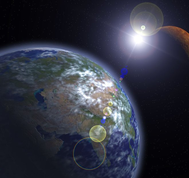 Mars in Zemlja