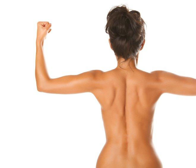Lep ženski hrbet