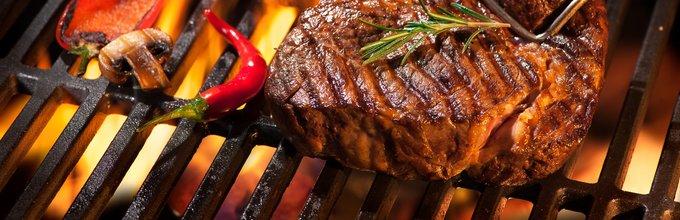 Steak in zelenjava na žaru