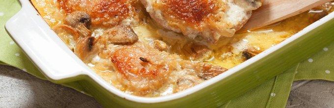 Piščanec v smetanovi omaki z gobami