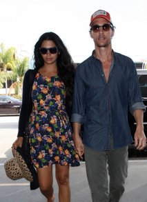 Matthew McConaughey in Camila Alves