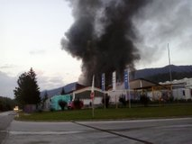 Požar tovarne Fibran Nord