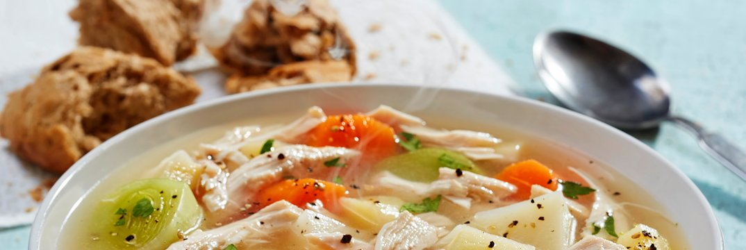 Zimska juha s piščancem