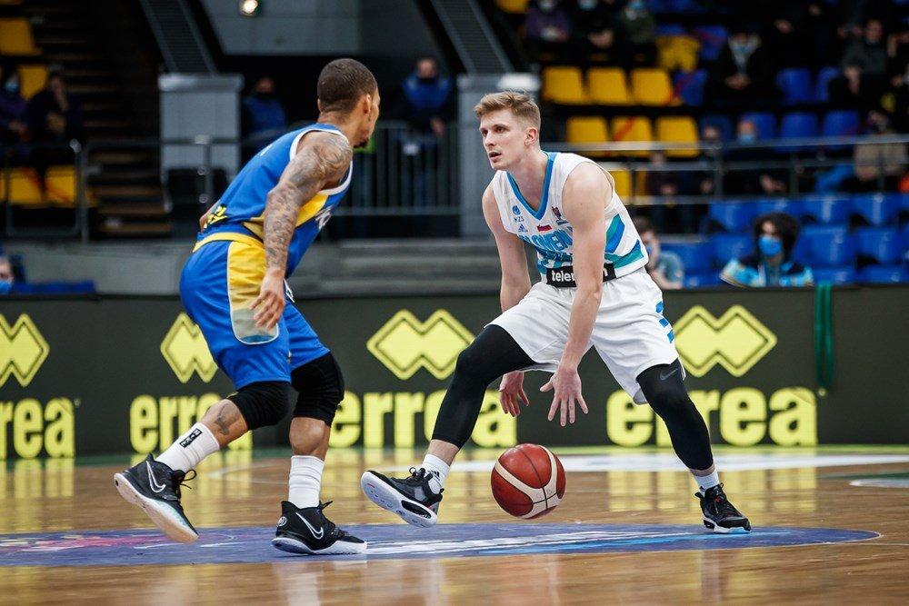 Luka Rupnik na tekmi Ukrajina – Slovenija
