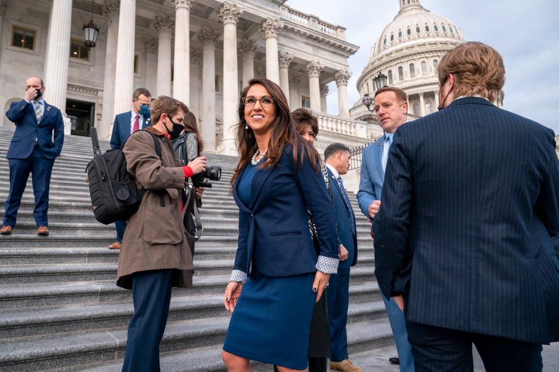 Kongresnica Lauren Boebert ...
