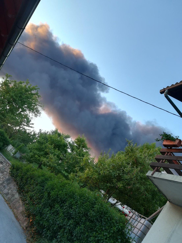 Požar v Cerknici
