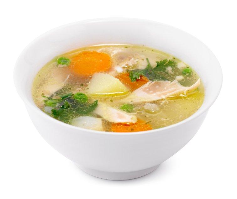 Domača kokošja juha.