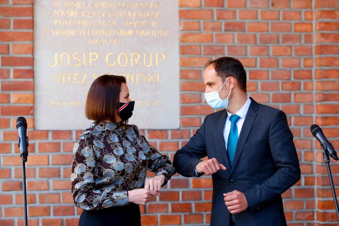 Svetlana Tihanovska in Anže Logar