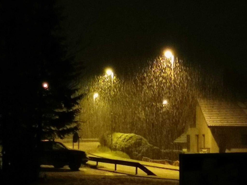Sneg v Kranjski Gori.