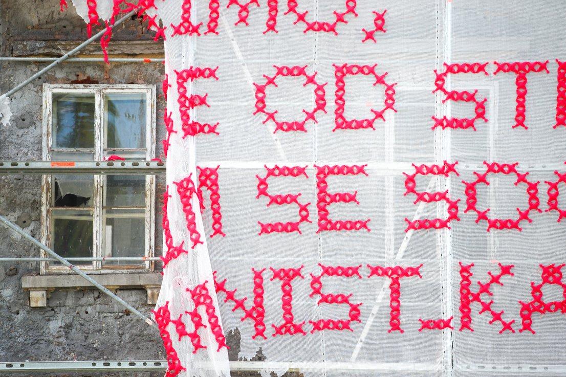 Uničeno umetniško delo Solange