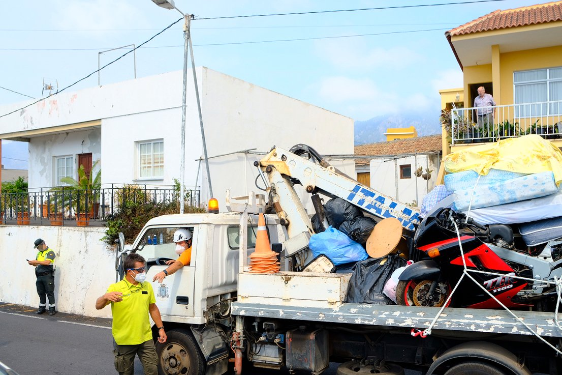 Evakuacija prebivalcev na La Palmi
