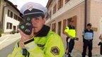 Policistka z radarjem