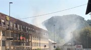 požar v nekdanji strojni tovarni v Trbovljah