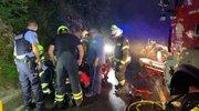 Nesreča reševalnega vozila pri naselju Vrhe-2