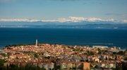 Pogled na Julijske Alpe z Obale.