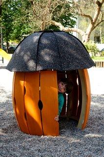 Lesena hiška za otroke Gardi-Shroomko
