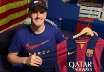 Trboveljčan na dražbo dal podpisan dres Barcelone: želi pomagati družini v stiski