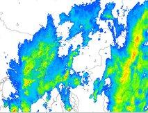 Ponoči dež zajel Slovenijo, za JZ del države velja oranžno opozorilo