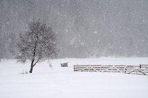V sredo buren prehod hladne fronte, ponekod bo tudi snežilo