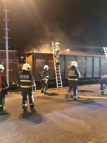 V Ljubljani požar na vagonu, zgorelo 25 ton premoga