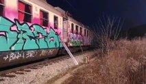 Vlak pri Radovljici zajel manjši požar