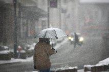 Sobota nam bo prinesla prve letošnje dežne kaplje in snežinke