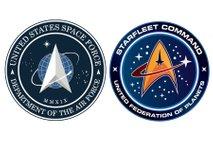 Logotip ameriških vesoljskih sil sumljivo spominja na Zvezdne steze