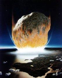 trk asteroida v zemljo