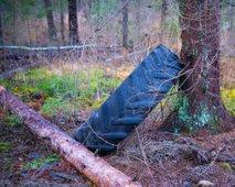 S traktorjem zdrsnil po gozdni vlaki in umrl