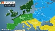 Tudi Accuweather nam napoveduje milo in suho zimo s posameznimi nevihtami