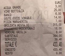 Ostala sta brez besed, saj je račun znašal več kot 430 evrov