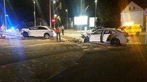 Prometna nesreča v Ljubljani: voznik zapeljal skozi rdečo in povzročil trčenje