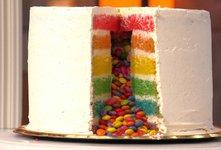 Pinata rainbow cake (mavrična torta)