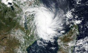 Mozambiku preti nova nevarnost: uničujoč ciklon Kenneth