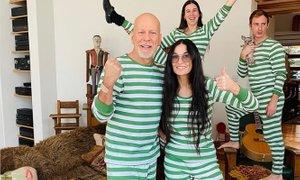 Nekdanja zakonca Demi Moore in Bruce Willis skupaj v samoizolaciji