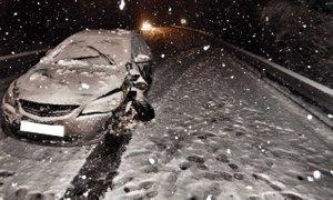 Zimske razmere predvsem v višje ležečih krajih, po nižinah se sneg tal ni ...