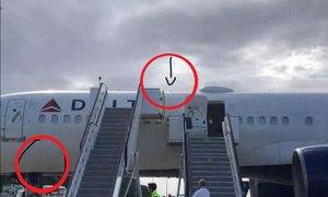 Boeing 757 tako trdo pristal, da se je nagubal trup