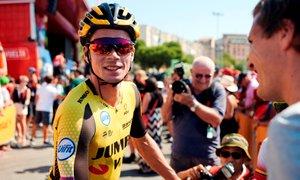 Silovit odgovor Rogliča na drugi etapi, Quintana prvi skozi cilj