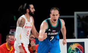 Slovenski košarkarji na OI po zmagi nad Španci v četrtfinalu proti Nemčiji
