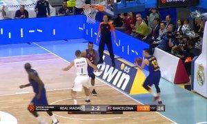 VIDEO: Campazzo v stilu Dončića: 'koš izpod koša'