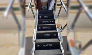 Messi si je omislil privatno letalo s personaliziranimi stopnicami