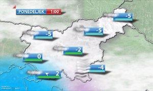 ANIMACIJA: Zimsko vreme se bo nadaljevalo, v ponedeljek možna nova pošiljka ...