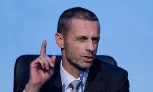 Čeferin pokazal mišice: Barci zagrozil z izključitvijo iz Lige prvakov