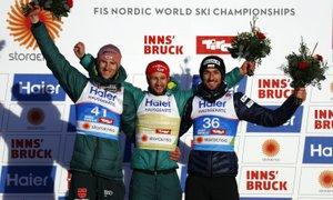 Nemec Eisenbichler je nov svetovni prvak, Slovenci daleč od boja za medalje
