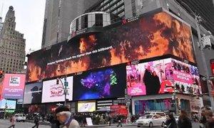 'Predstavljajte si gozdni požar, ki sega višje od tega zaslona'