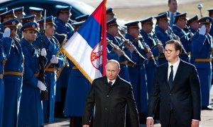 Zvezdniški sprejem za Putina v Srbiji, pa tudi protesti