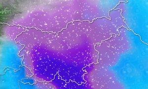 ANIMACIJA: Arso opozarja: najbolj bo snežilo v času prometne konice