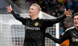 Haaland postal igralec meseca v Bundesligi: vsega skupaj odigral le 59 minut