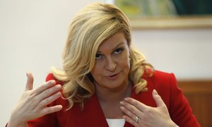 Hrvaška predsednica ima spet težave s poznavanjem zgodovine