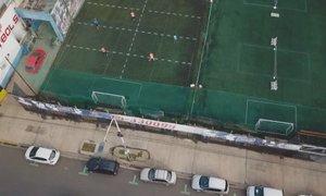 Nogomet brez stika s soigralci: igrišče razdelili na 12 pravokotnikov